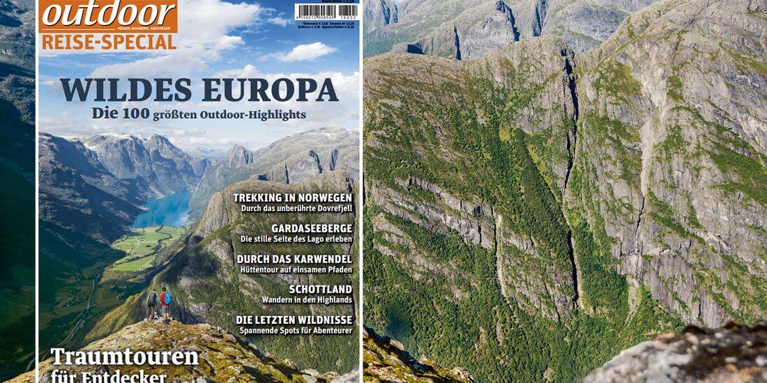 OD 02/2018 Sonderheft Reise Wildes Europa Titel Cover Collage Teaser