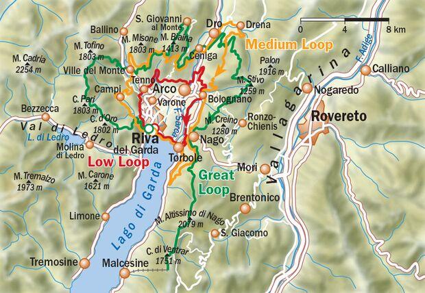 OD 0318 Gardasee Map Übersicht Karte