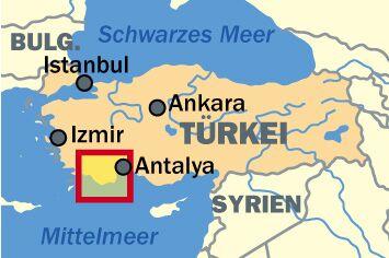 OD 0411 Türkei Lykische Küste Lage