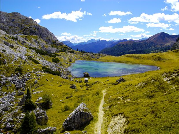 OD 0909 Dolomiten Südtirol Berge Bergsee