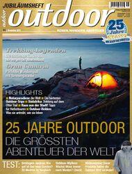 OD 1113 November Titel Heft Jubiläumsausgabe 25 Jahre outdoor
