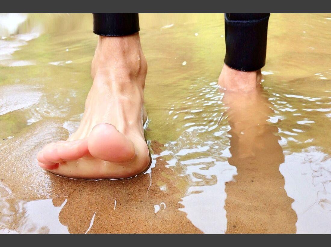 OD 2017 Aldo Berti Weltrekord Barfußlaufen Fuß Füsse Strand Wasser