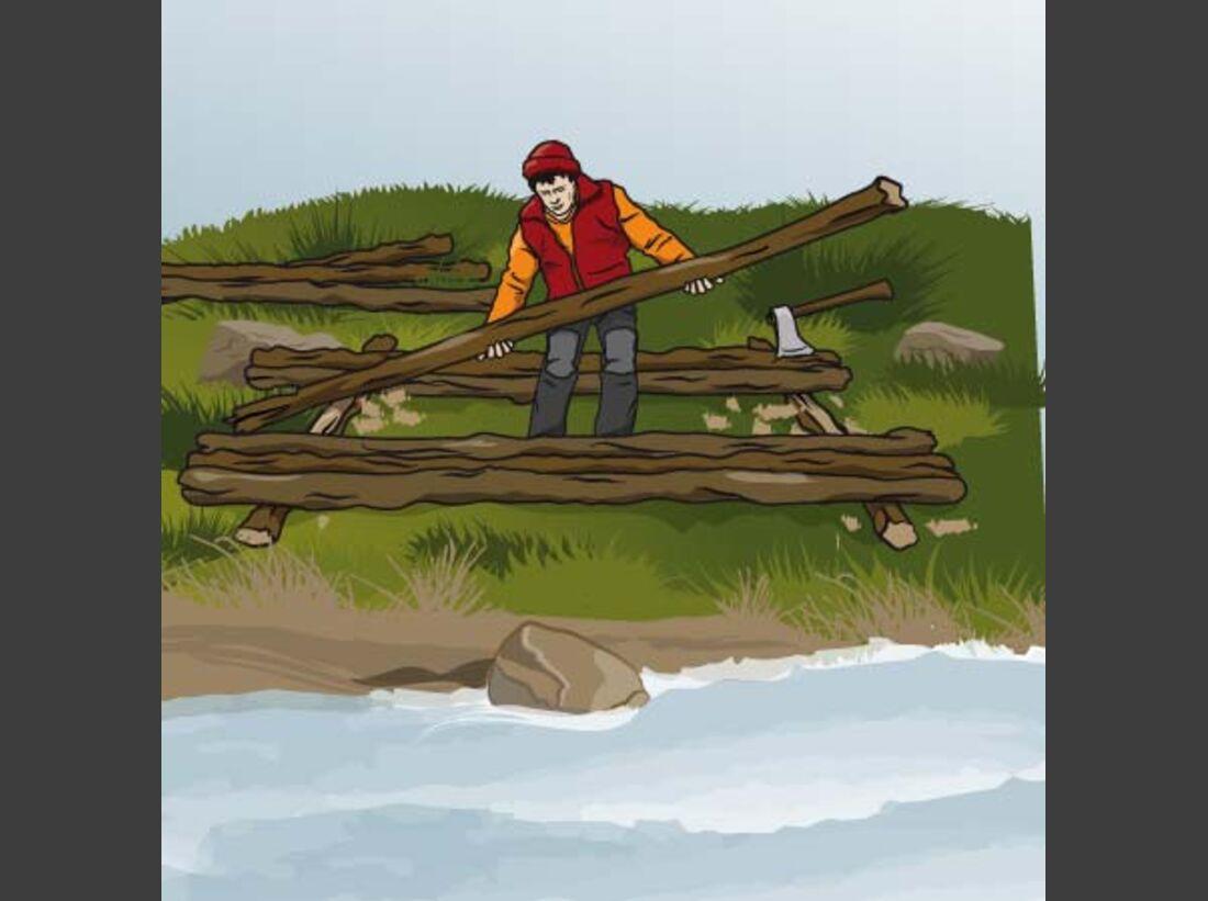 OD Das eigene Floß bauen: Legen