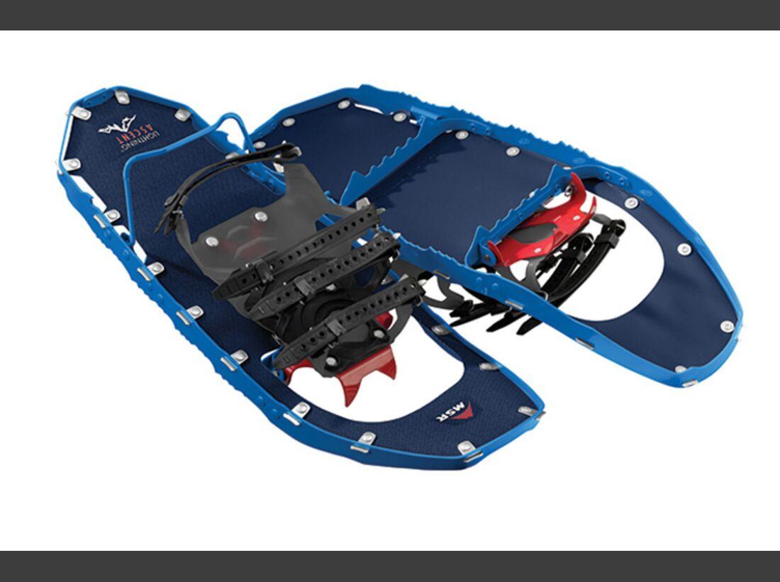 OD ISPO 2017 MSR Schneeschuhe DTX Crampons Lightning Ascent Schneeschuh