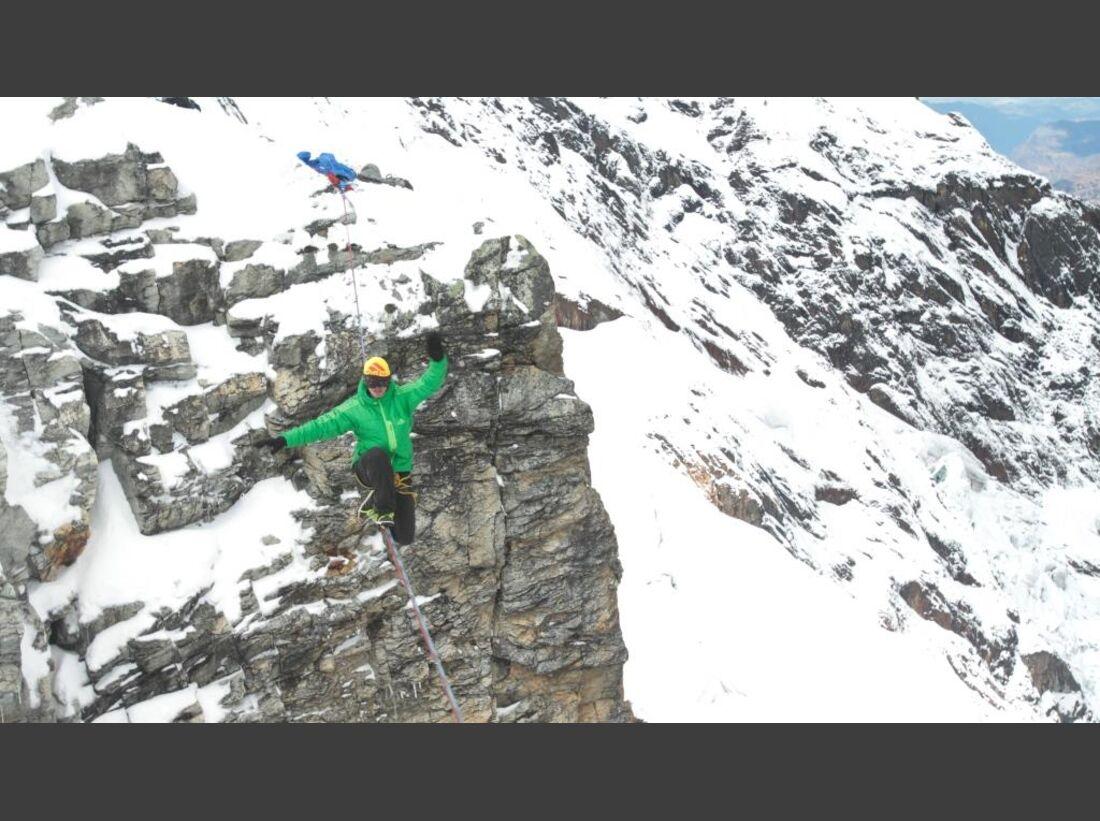 Slackline-Höhenweltrekord in Peru 13