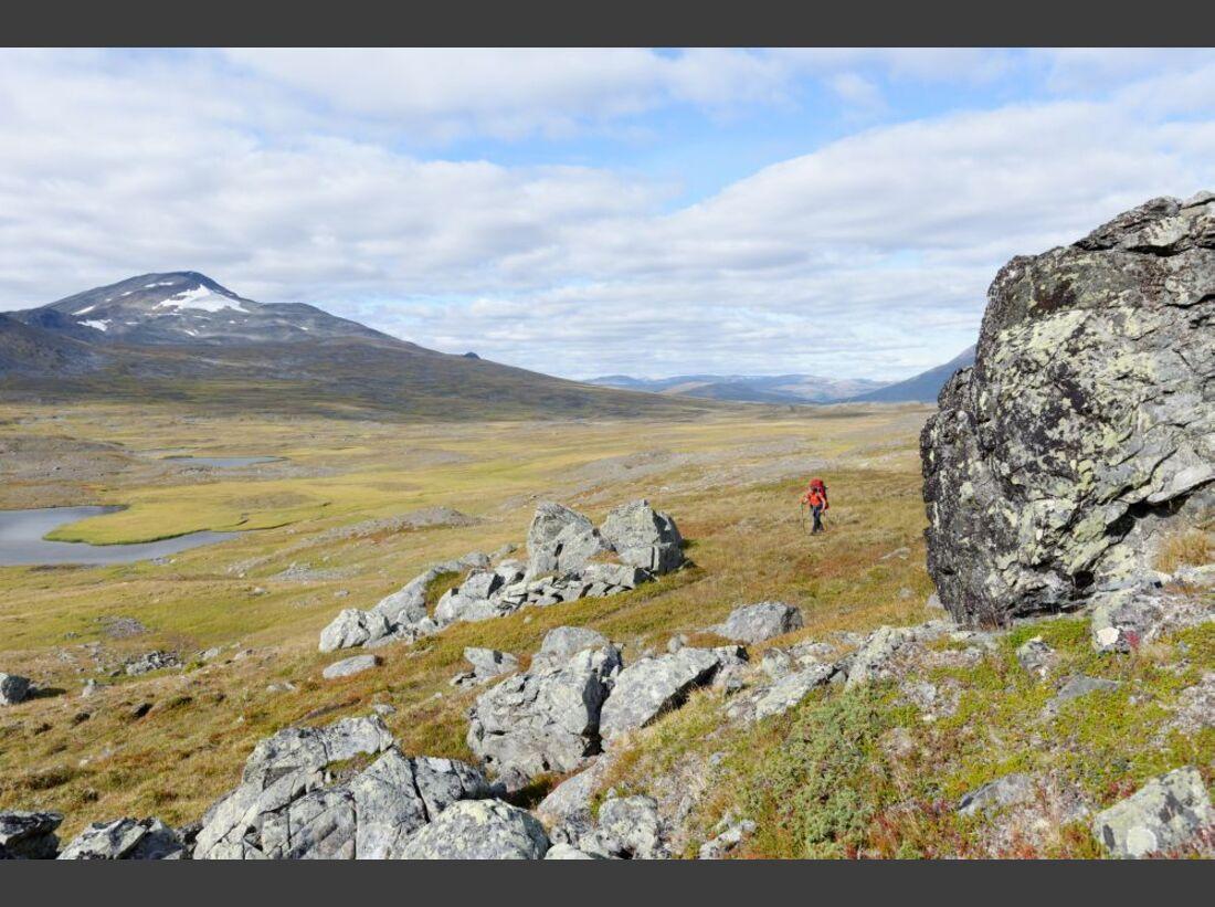 Wildnis-Trekking im Sarek 43
