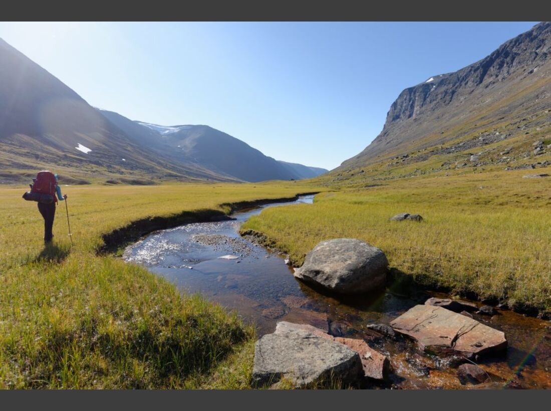 Wildnis-Trekking im Sarek 58